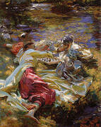 The Chess Game 1907 By John Singer Sargent