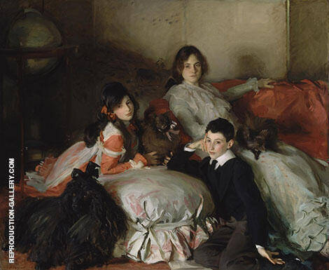 Essie Ruby And Ferdinand Children of Asher Wertheimer 1902 Painting By ...