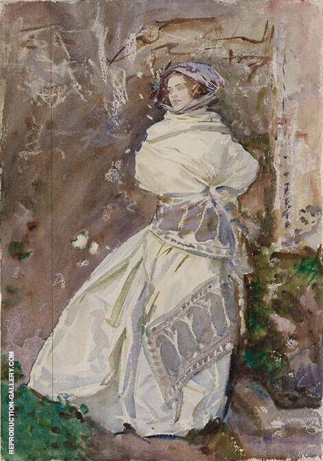 The Cashmere Shawl Rose-Marie Ormond 1910 Painting By John Singer Sargent