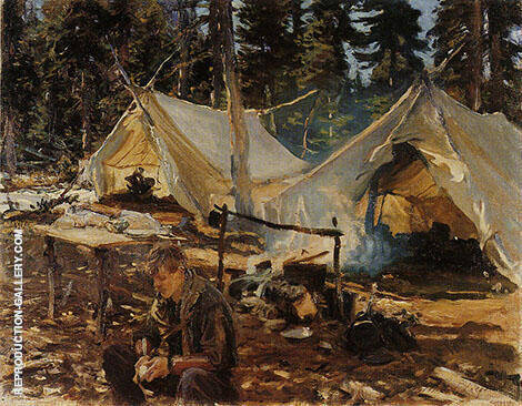 Tents at Lake O'Hara 1916 Painting By John Singer Sargent