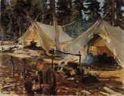 Tents at Lake O'Hara 1916 By John Singer Sargent
