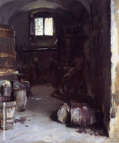 Pressing the Grapes Florentine Wine Cellar 1882 By John Singer Sargent