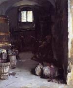 Pressing the Grapes Florentine Wine Cellar 1882 By John Singer Sargent