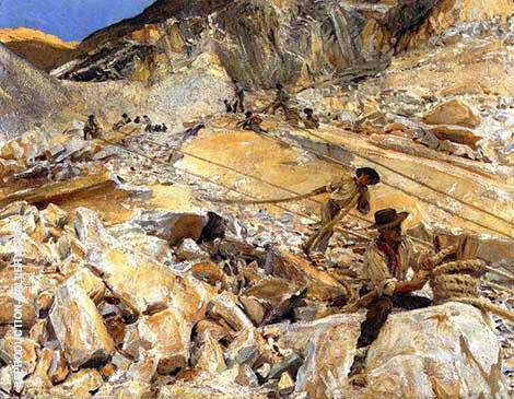Bringing Down Marble From the Quarries to Carrara 1911 By John Singer Sargent - Oil Paintings & Art Reproductions - Reproduction Gallery