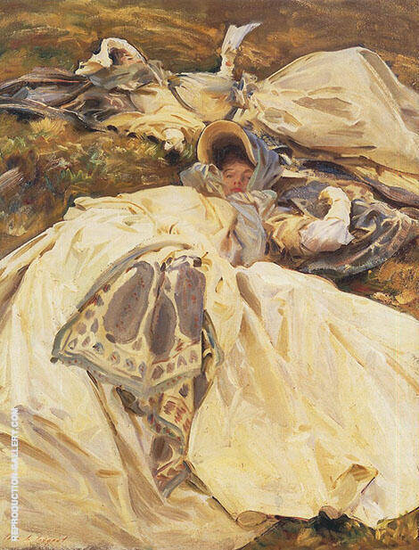 Two Girls in White Dresses 1910 Painting By John Singer Sargent