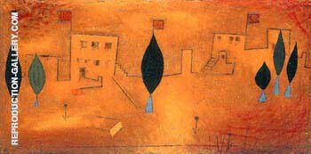 Oriental Feast By Paul Klee Replica Paintings on Canvas - Reproduction Gallery