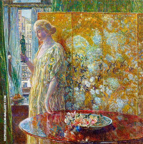 Tanagra The Builders, New York By Childe Hassam - Oil Paintings & Art Reproductions - Reproduction Gallery