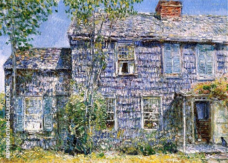 East Hampton Old Mumford House 1919 By Childe Hassam - Oil Paintings & Art Reproductions - Reproduction Gallery