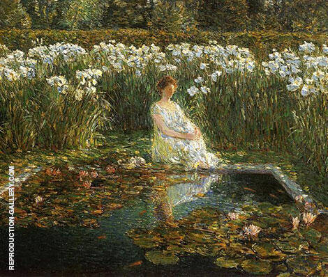 Reproduction of Lilies 1910 by Childe Hassam | Oil Painting Replica On CanvasReproduction Gallery