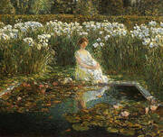 Lilies 1910 By Childe Hassam
