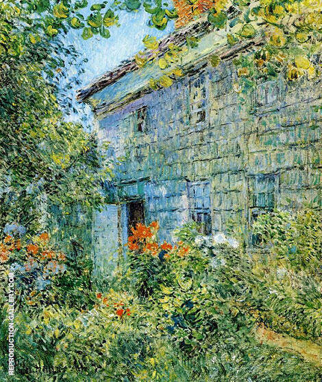 Old House and Garden East Hampton 1898 Painting By Childe Hassam