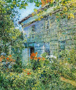 Old House and Garden East Hampton 1898 By Childe Hassam