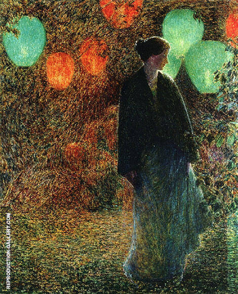 July Night 1898 By Childe Hassam Replica Paintings on Canvas - Reproduction Gallery