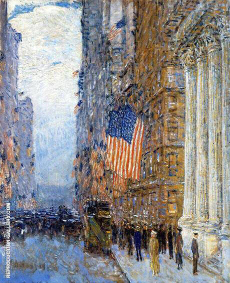 Flags on the Waldorf 1916 Painting By Childe Hassam - Reproduction Gallery