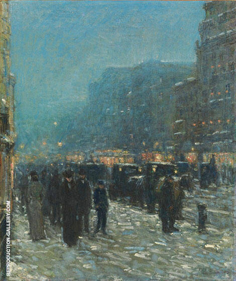 Broadway and 42nd Street 1902 By Childe Hassam Replica Paintings on Canvas - Reproduction Gallery