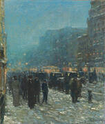 Broadway and 42nd Street 1902 By Childe Hassam