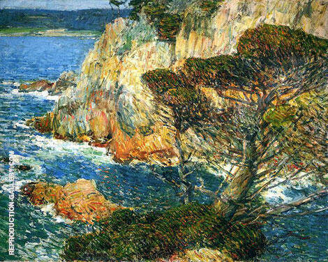 Point Lobos Carmel 1914 Painting By Childe Hassam - Reproduction Gallery