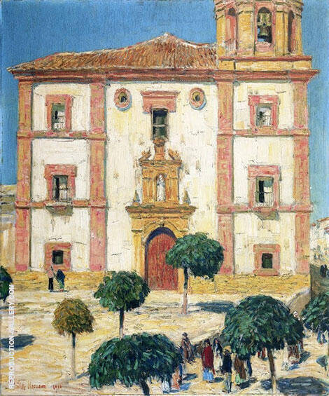Cathedral at at Ronda 1910 Painting By Childe Hassam