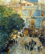 Square at Seville 1910 By Childe Hassam