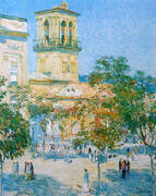 Street of the Great Captain Cordoba 1910 By Childe Hassam