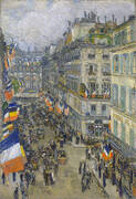 July Fourteenth Rue Daunou 1910 By Childe Hassam