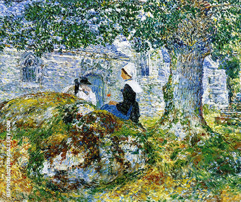 In Brittany Bay 1897 By Childe Hassam Replica Paintings on Canvas - Reproduction Gallery