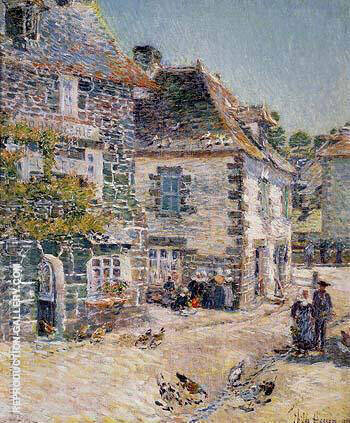 Pont-Aven Noon Day 1897 By Childe Hassam