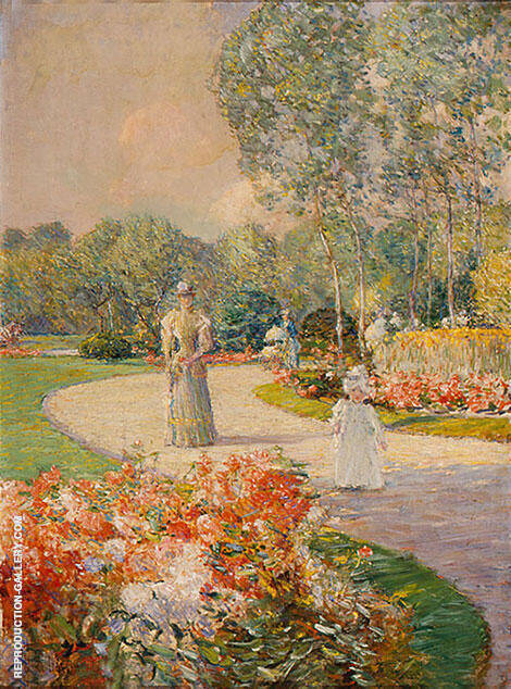 Parc Monceau 1897 Painting By Childe Hassam - Reproduction Gallery