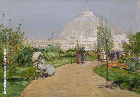 Horticulture Building World's Columbian Exposition Chicago 1893 Painting By ...