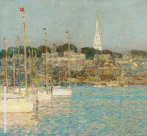 Cat Boats Newport 1901 Painting By Childe Hassam - Reproduction Gallery