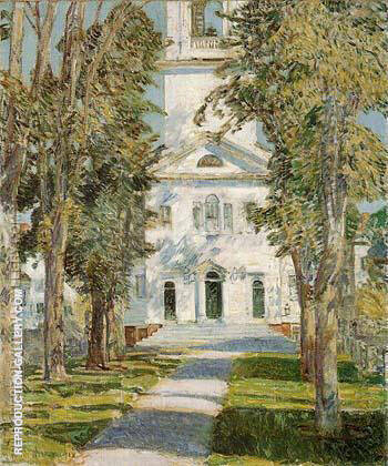 The Church at Gloucester 1918 By Childe Hassam - Oil Paintings & Art Reproductions - Reproduction Gallery