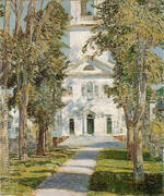 The Church at Gloucester 1918 By Childe Hassam