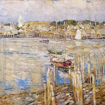 Gloucester 1899 By Childe Hassam - Oil Paintings & Art Reproductions - Reproduction Gallery
