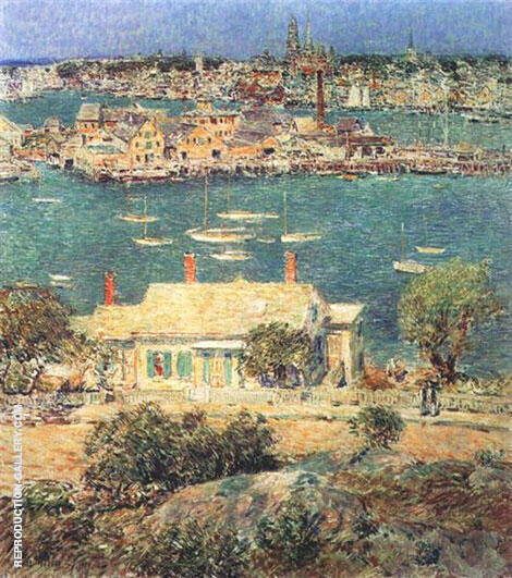 Gloucester Harbor 1899 By Childe Hassam - Oil Paintings & Art Reproductions - Reproduction Gallery