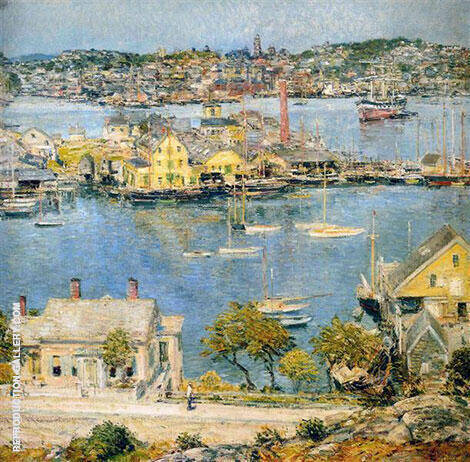 Gloucester Harbor 1899 2 By Childe Hassam - Oil Paintings & Art Reproductions - Reproduction Gallery