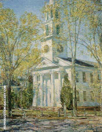 Reproduction of Church at Old Lyme 1906 by Childe Hassam | Oil Painting Replica On CanvasReproduction Gallery