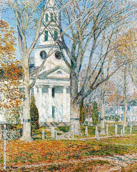 Church at Old Lyme 1903 By Childe Hassam - Oil Paintings & Art Reproductions - Reproduction Gallery
