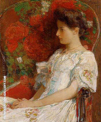 The Victorian Chair 1906 By Childe Hassam - Oil Paintings & Art Reproductions - Reproduction Gallery