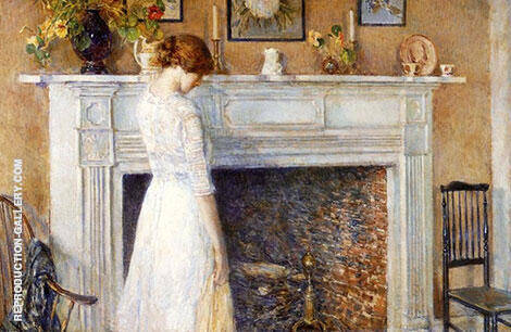 In the Old House 1914 Painting By Childe Hassam - Reproduction Gallery