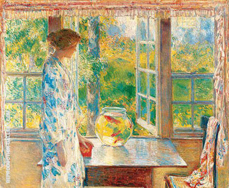 Bowl of Goldfish 1912 Painting By Childe Hassam - Reproduction Gallery