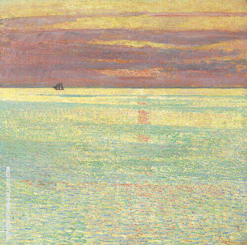Sunset at Sea 1911 Painting By Childe Hassam - Reproduction Gallery