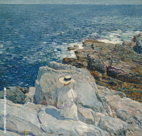 The South Ledges Appledore 1913 By Childe Hassam - Oil Paintings & Art Reproductions - Reproduction Gallery