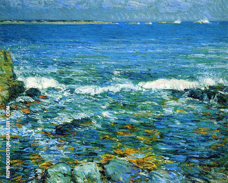 Duck Island from Appledore 1911 By Childe Hassam Replica Paintings on Canvas - Reproduction Gallery