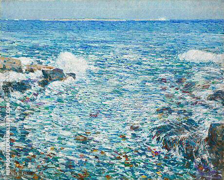 Surf Isles of Shoals 1913 By Childe Hassam Replica Paintings on Canvas - Reproduction Gallery