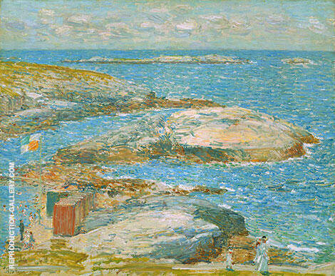 Bathing Pool Appledore 1907 By Childe Hassam - Oil Paintings & Art Reproductions - Reproduction Gallery