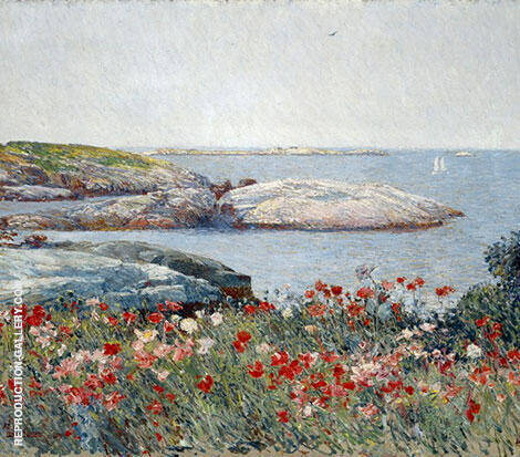 Poppies Isles of Shoals 1891 By Childe Hassam - Oil Paintings & Art Reproductions - Reproduction Gallery