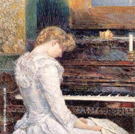 The Sonata 1893 By Childe Hassam - Oil Paintings & Art Reproductions - Reproduction Gallery
