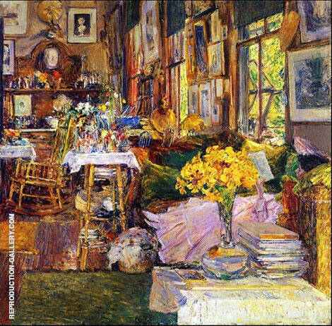 The Room of Flowers 1894 By Childe Hassam Replica Paintings on Canvas - Reproduction Gallery
