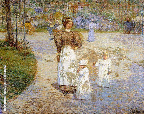 Reproduction of Spring in Central Park Springtime 1898 by Childe Hassam | Oil Painting Replica On CanvasReproduction Gallery
