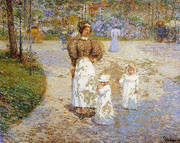 Spring in Central Park Springtime 1898 By Childe Hassam